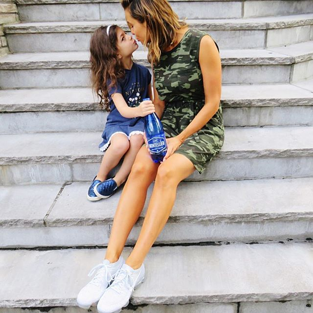 Summer kisses 😘, mommy and daughter time and of course our favourite @montelliercanada 💙  #myMontellier #madebycanada #partner