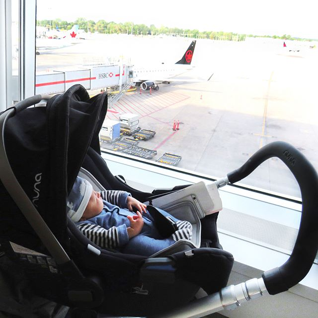 The competition is fierce out there. It's never too early to get to work and to earn those air miles ✈✈. At 5 weeks my baby boy took his first business trip to New York with me today.  Of course our flight was an hour delayed then cancelled! we had to board another plane and landed in New York almost 3 hours late. But my baby boy was the best trooper slept and eat the whole way then off to work he went in his @nunacanada Ivvy stroller and car seat Nothing i love more then to have my baby with me as I work away to launch our new Spring collections! #fashiongrind #vincecamuto #babyinfashion #workingmom