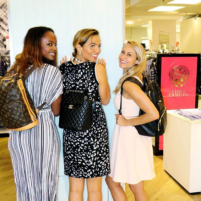 A little #sneakpeak of yesterday's #HBStyleSocial event at @hudsonsbay in Toronto 💃🏼 Girl squad is strong!! We had a fashion illustrator who painted live the ladies while they shopped our new @vincecamto fall collections! 💗💗 The fashion world never sleeps & baby Yan was there with me!  Happy friday everyone... next stop New York w baby on monday!