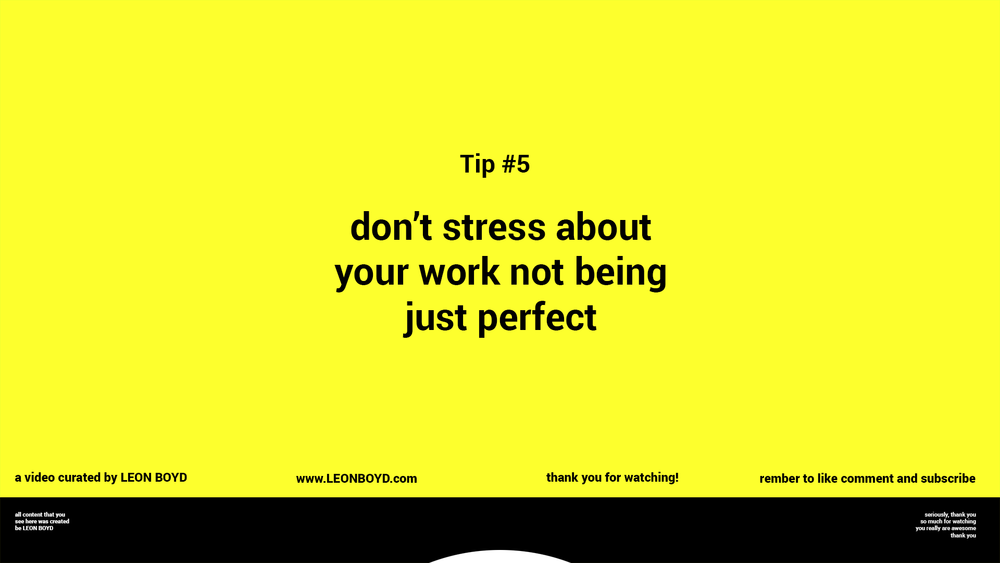 "5. Don't stress about perfection. And finally, tip number 5! It's okay if that painting doesn't make it to the MOMA. Putting pressure on yourself to produce something outstanding can actually make it harder to create anything at all. ""A lot of people secretly feel, 'I'm not creative.' But everyone is creative to a certain degree,"" Carrie Barron says. Just try your best and see what happens."