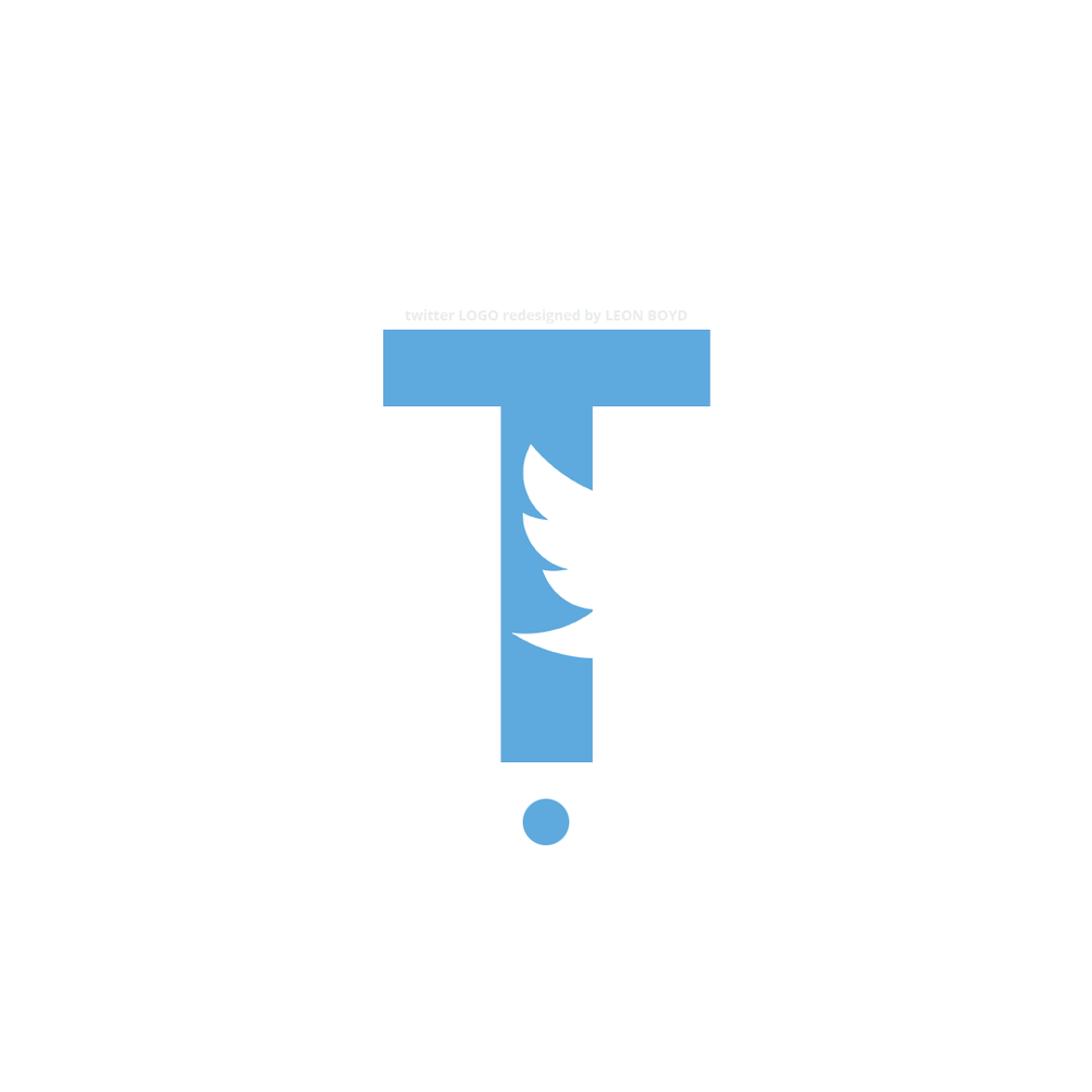Twitter LOGO Redesigned by LEON BOYD