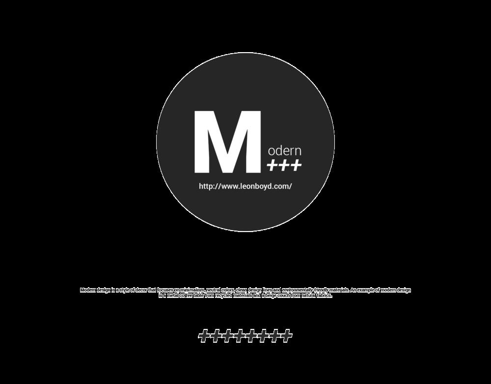 Modern Design; www.LEONBOYD.com