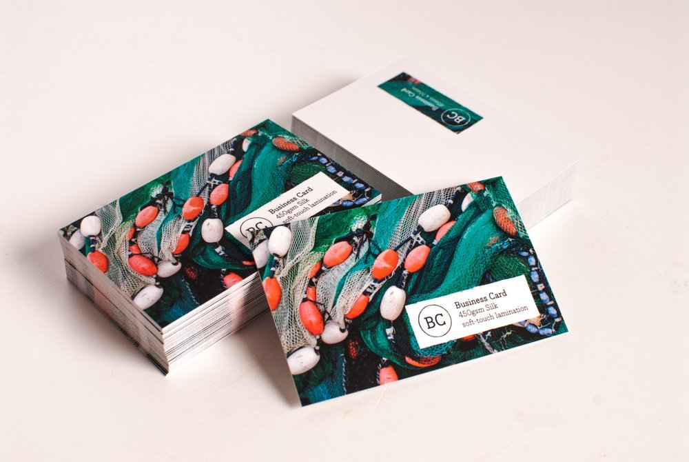 Business Cards - Matt, Gloss or Soft Touch Lamination
