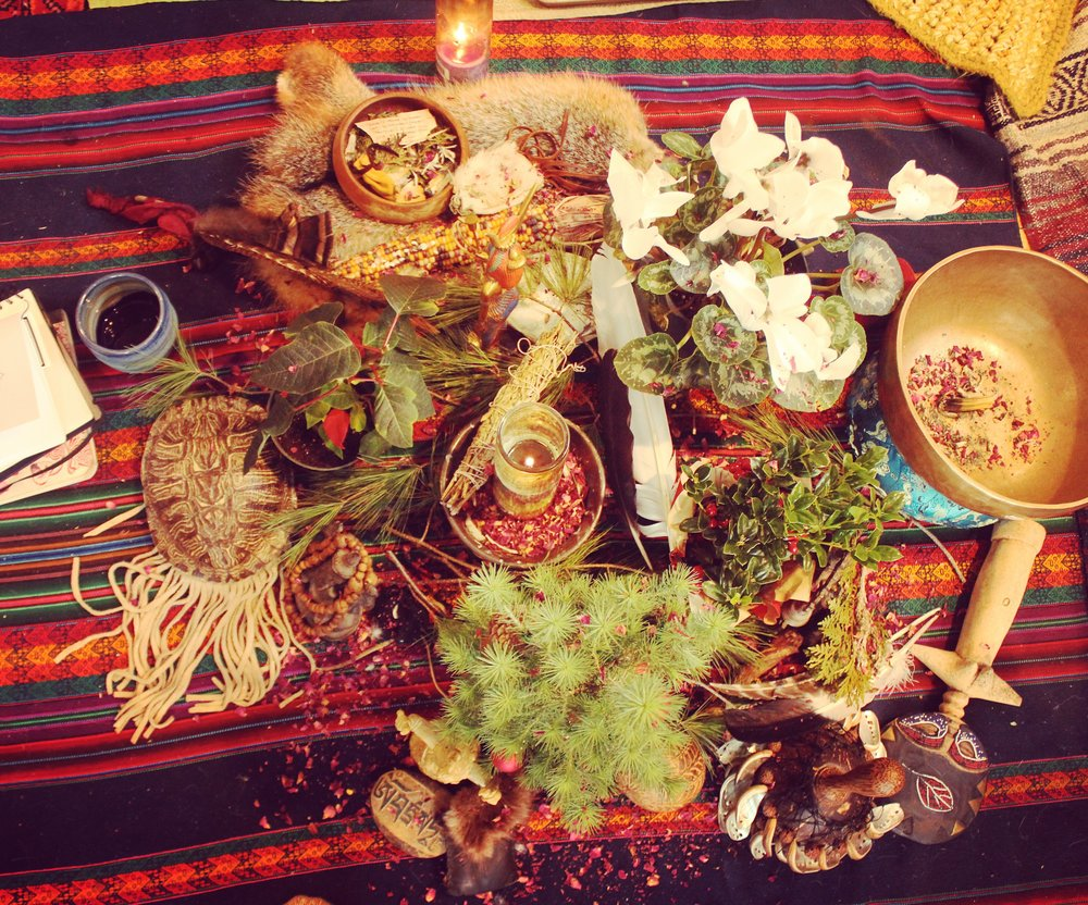 Daryl's Winter Solstice Evergreen Altar