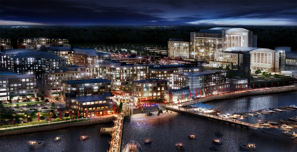 Night National Harbor | LandDesign