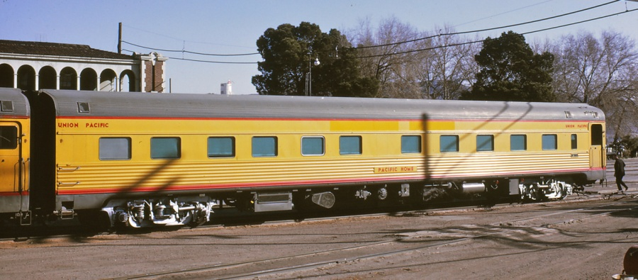 Pacific Home - This classic Union Pacific Streamliner is a 10-6 sleeper and will be your home away from home. Click