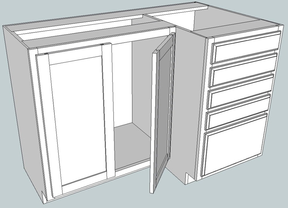 A custom cabinet design for a craft room with a lot of storage.