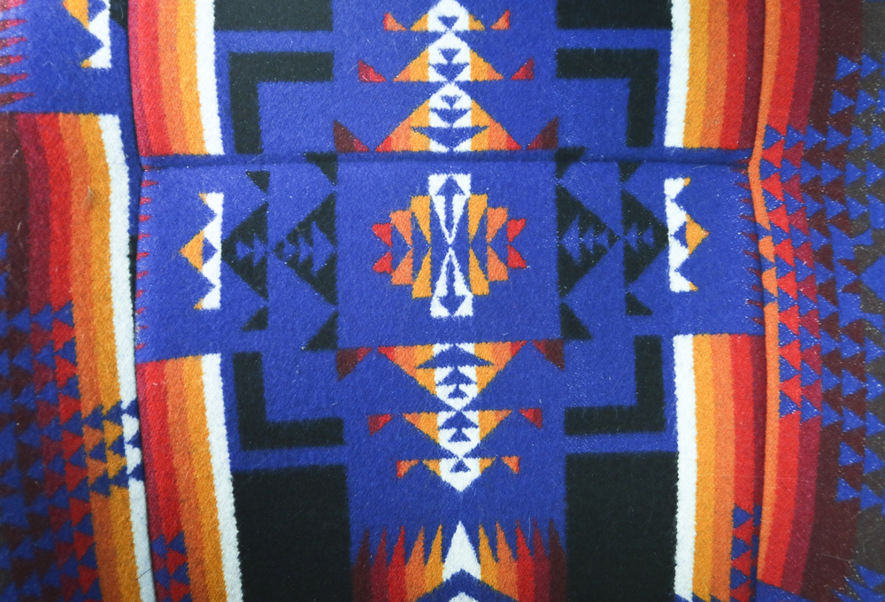 Close up of the Chief Joseph Print featured on the front seats.