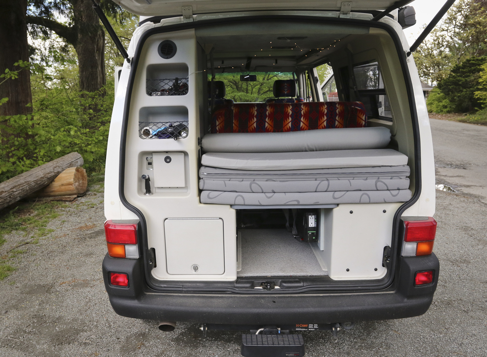 The GoWesty memory foam mattress topper was added to increase comfort and livability. While it does take away from valuable space in the rear compartment the comfort it provides cannot be understated.