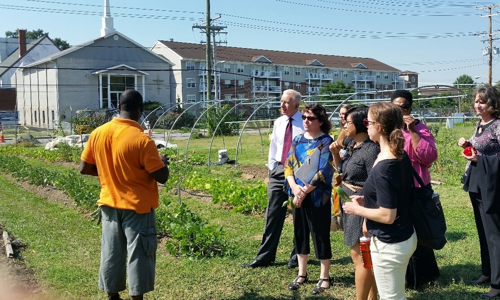 """When a community has a garden and sells the fresh produce that they grow, it's hard to ask a participant to drive or take the bus to a different neighborhood to go to a grocery store.""       - Johns Hopkins WIC explains their involvement in an initiative to allow local farms stands to accept WIC fruit and vegetable checks.  Location: Baltimore, Maryland"