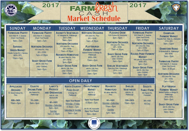 Farm Fresh Cash can be used 7 days a week!