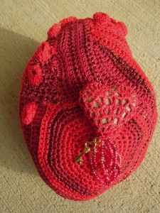 Heartrock Hotel Gwen Blakley Kinsler Crochet, Kreinik metallic threads, various 4 x 6 inches