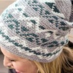 Fair Isle hat worked in the round