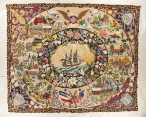 Hand-hooked rug, 10 x 12 feet
