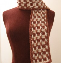 Tunisian Check Scarf