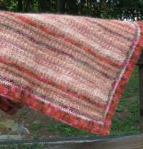 Peach Fab Throw