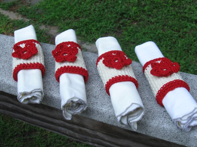 Flower Napkin Ring quartet (Small).JPG