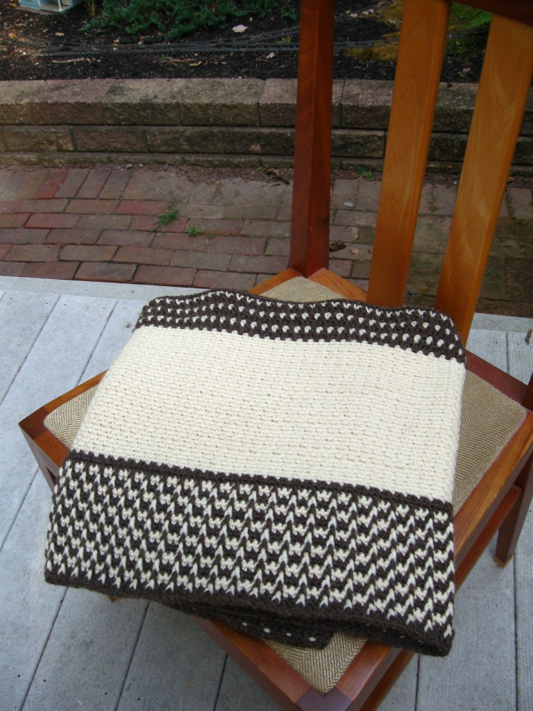 Fishermen's Wool Wrap, Folded on Chair Seat (Medium).JPG