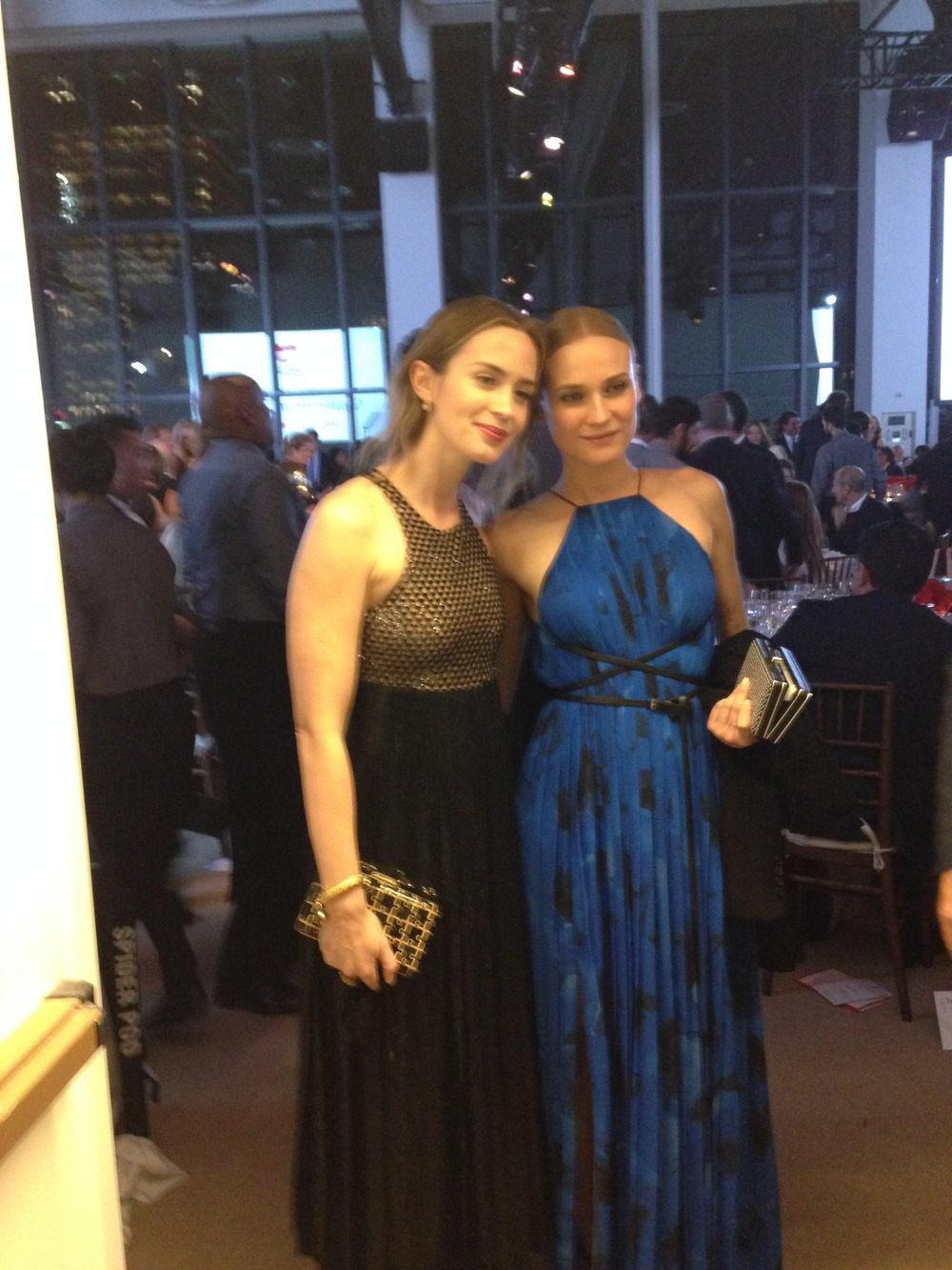 Emily Blunt and Diane Kruger share a picture