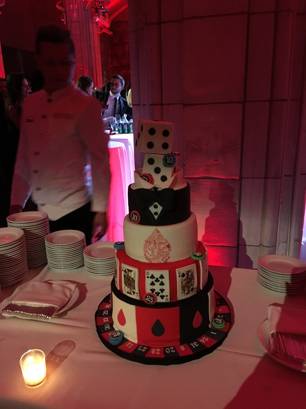 Customized Casino night cake