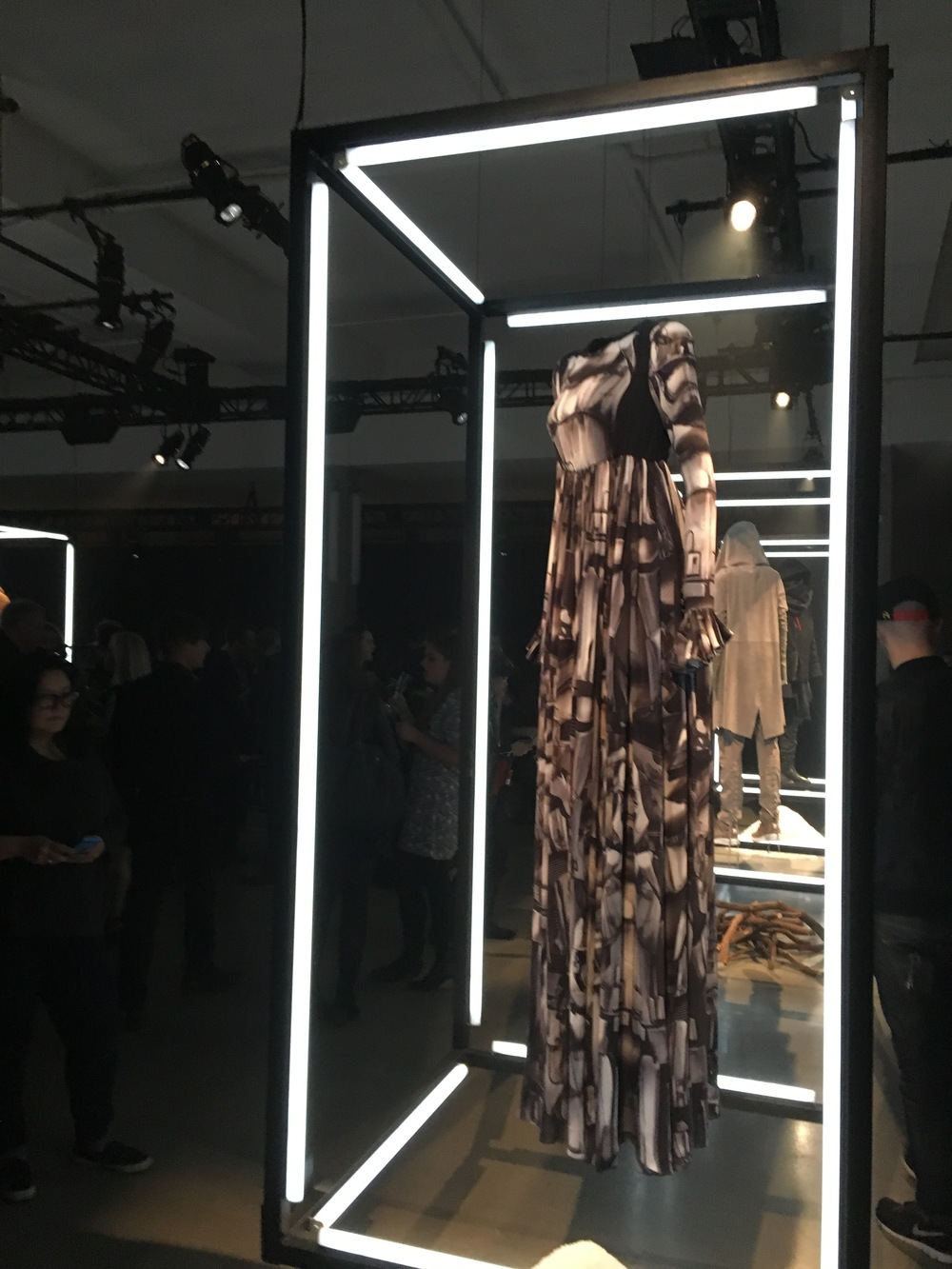 Filmed Inspired fashion line on display