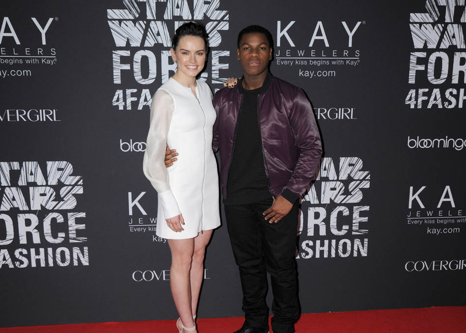 Daisy Ridley and John Boyega