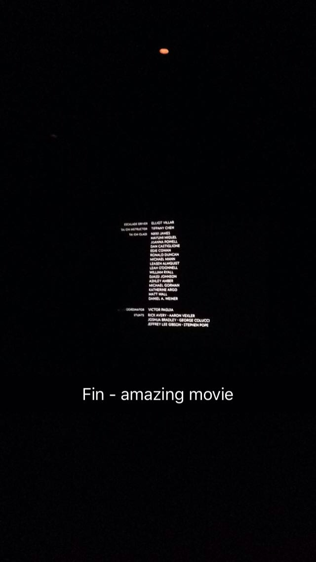 End of the movie