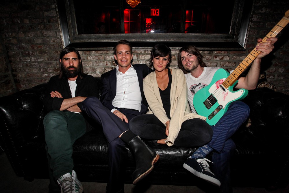 Jason Schwartzman, Johnny Simmons, Frankie Shaw, Robert Schwartzman                                                                                Photo: David Bowers