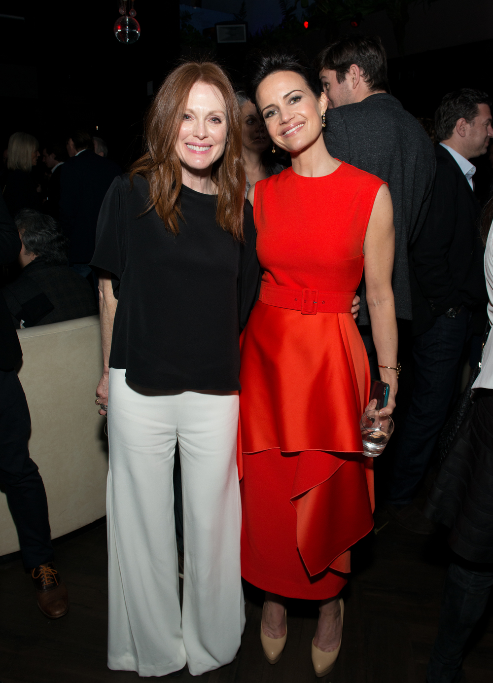 Julianne Moore, and Carla Gugino                                                                                                                                                        Photo: Noam Galai