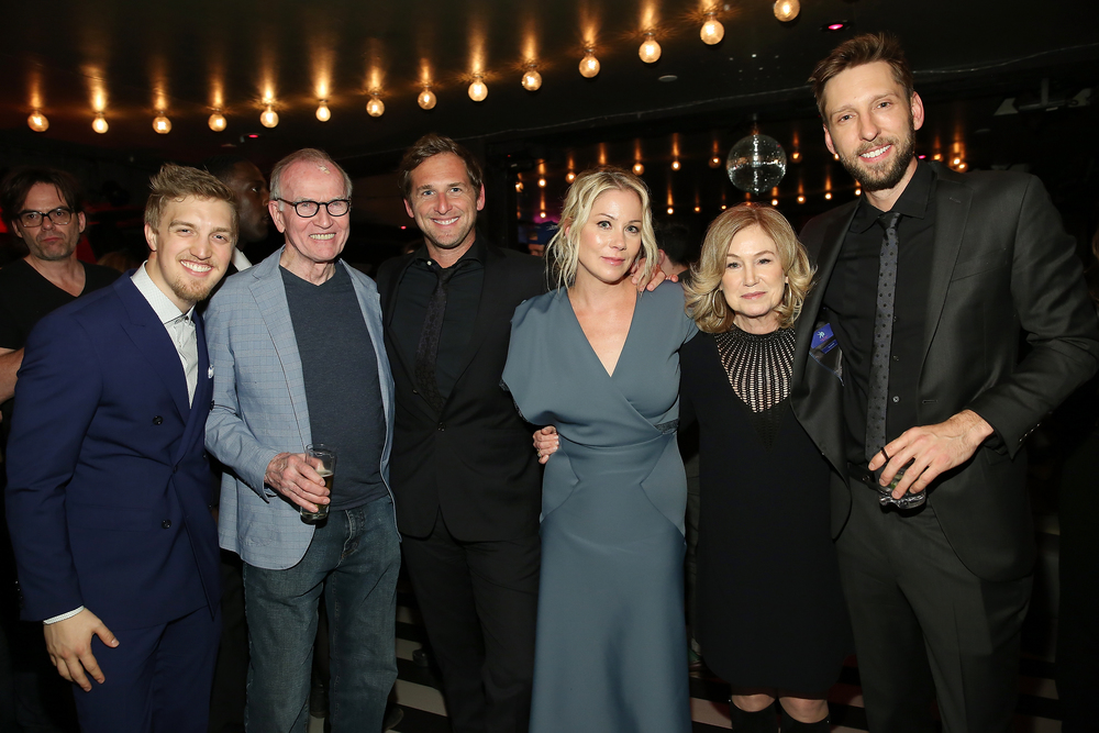 Keenan Joliff, Josh Lucas, Christina Applegate, Mary Kay Place, and Joel David Moore                                                         Photo: Monica Schipper