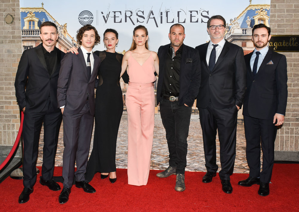 "Cast of ""Versailles"" with show creators, SImon Mirren and David Wolstencroft"