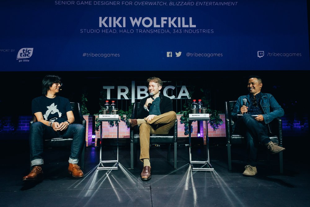 L-R: Game developer Michael Chu (Overwatch), Ben Lindbergh and Jason Concepcion (The Ringer/Achievement Oriented) discuss Overwatch's lore and universe at the inaugural Tribeca Games Festival. Photo credit: @jive for @streetdreamsmag