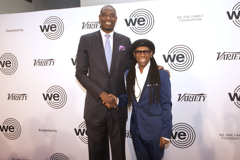 Dikembe Mutombo and Nile Rodgers