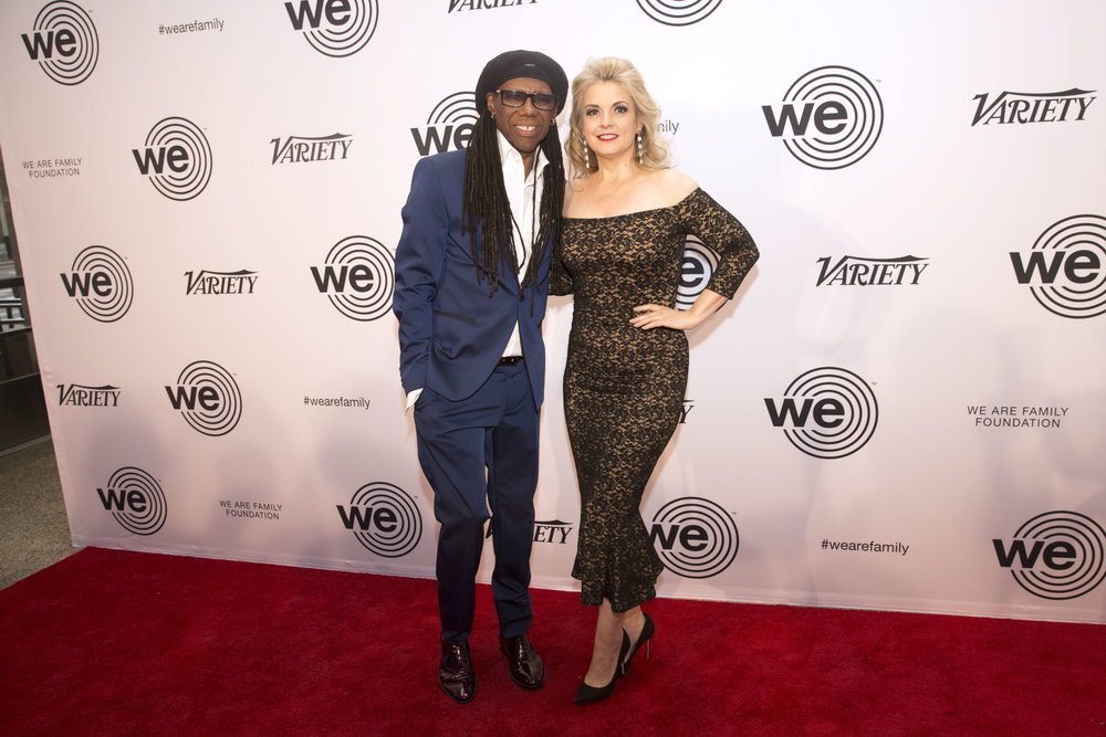 Nile Rodgers (L) and Nancy Hunt