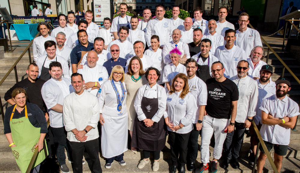 On Monday, June 12th over 40 renowned chefs from across the world came together to support Citymeals on Wheels at Ports of Call Mediterranea: A Culinary Journey: The 32nd Annual Chefs' Tribute to Citymeals at Rockefeller Center Plaza.
