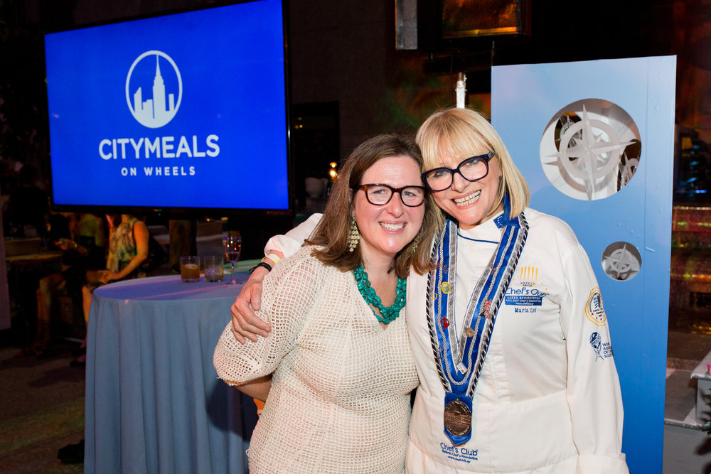 Citymeals on Wheels Executive Director, Beth Shapiro and Chef Maria Loi (Loi Estiatorio)