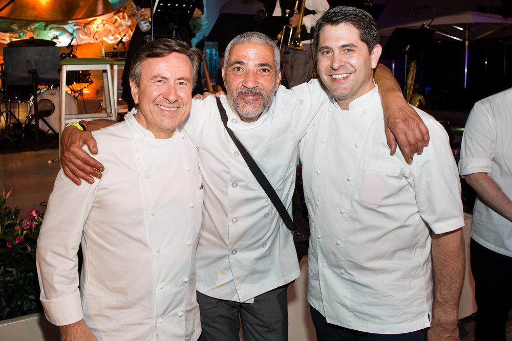 Chef Daniel Boulud (Boulud Sud), Chef Farid Zadi (Revolutionario North African Tacos), Chef Shea Gallante (Lincoln Ristorante)