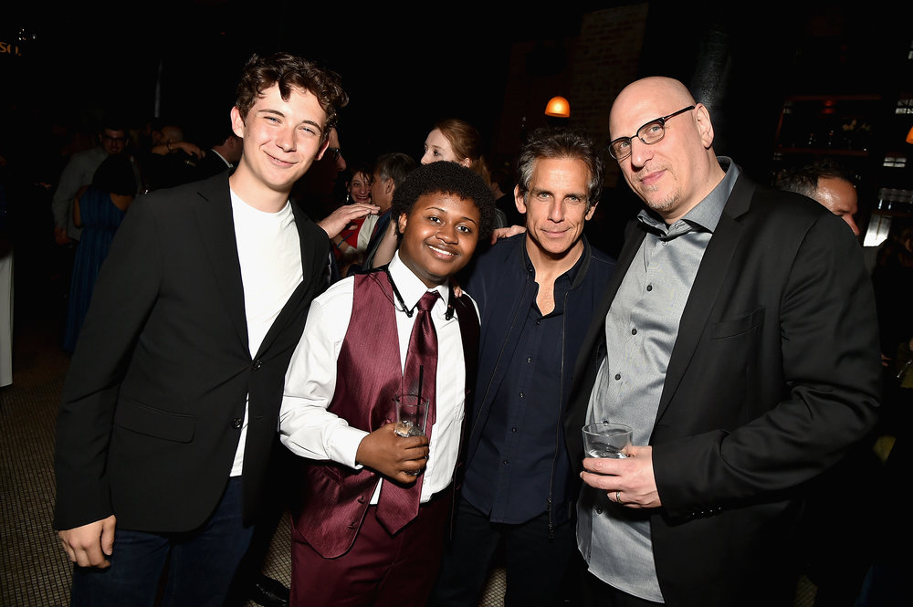 Seamus Davey-Fitzpatrick, Miles J. Harvey, Ben Stiller and Oren Moverman  2017 Tribeca Film Festival After Party For  The Dinner  Sponsored By  Nespresso  At  White Street  (Theo Wargo, Getty Images)