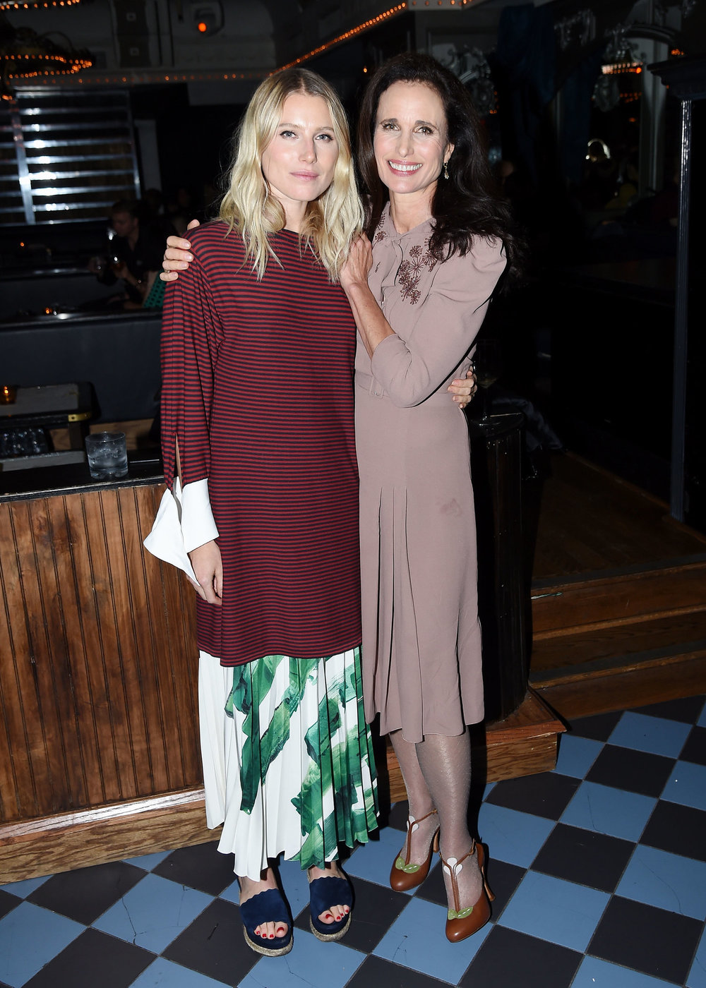 Dree Hemingway and Andie MacDowell 2017 Tribeca Film Festival After Party for Love After Love at Up and Down – 4/22/17 (Nick Hunt, Getty Images)