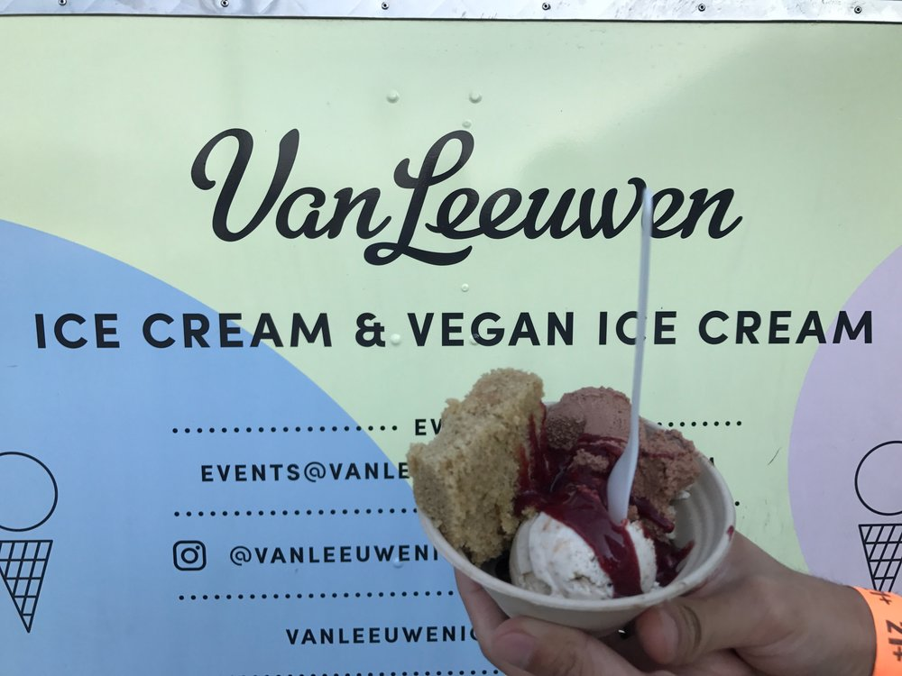 """Cosmic Mousstachio Vegan Ice Cream Sundae"" from Van Leeuwen, in partnership with Frankie Cosmos"