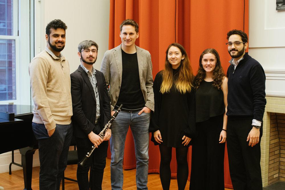 2.22.18 VPS Clarinet Master Class Carnegie Hall Jay Shankar, Phillip Solomon, Daniel Ottensamer, Sara Han, Katia Waxman, Amer Hasan.jpg