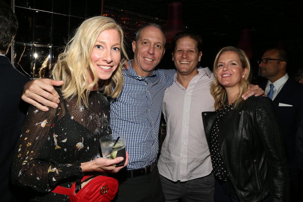 Rachel Moskowitz, Gregg Moskowitz, Scott Steinman and Leah Steinman