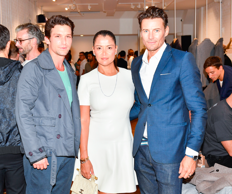 Actor Daren Kagasoff, Keytt Lundqvist and Male Supermodel Husband Alex Lundqvist at the Grand Opening of électic in New York.