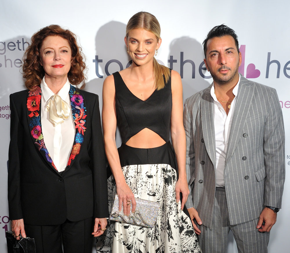 Actors Susan Sarandon, AnnaLynne McCord, Danny Abeckaser attend the Together1Heart Gala at TAO Downtown (Photo by Stephen Smith_Guest of a Guest).jpg