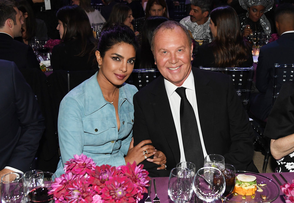 Priyanka Chopra and Michael Kors attend God's Love We Deliver, Golden Heart Awards at Spring Studios on October 16, 2018 in New York City. (Photo by Nicholas Hunt/Getty Images for Michael Kors)