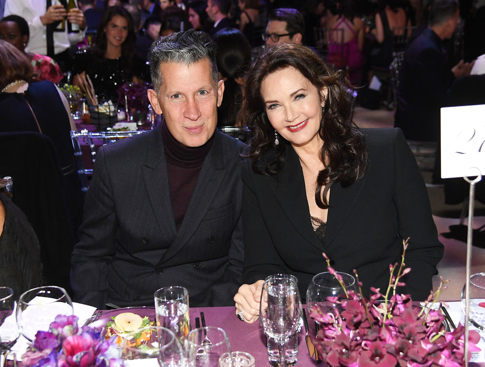 Stefano Tonchi and Lynda Carter attend God's Love We Deliver, Golden Heart Awards at Spring Studios on October 16, 2018 in New York City. (Photo by Nicholas Hunt/Getty Images for Michael Kors)