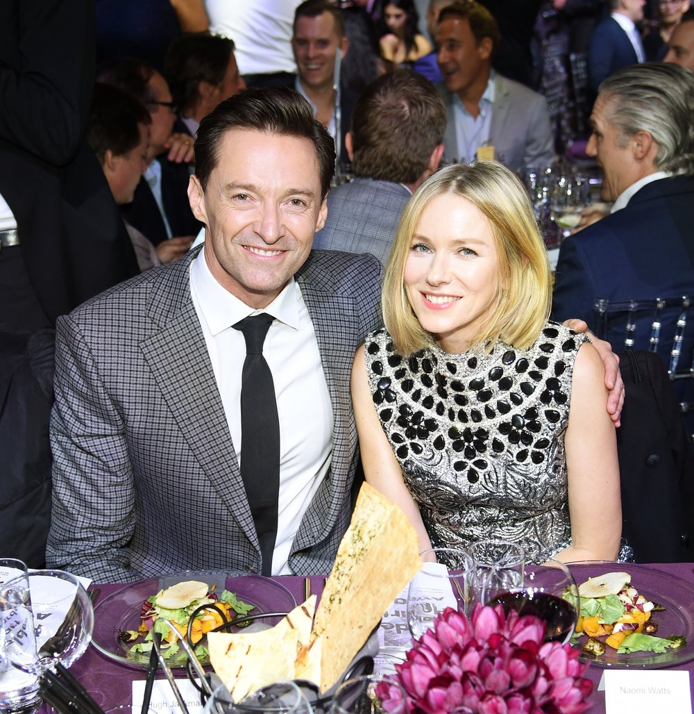 Hugh Jackman and Naomi Watts attends God's Love We Deliver, Golden Heart Awards at Spring Studios on October 16, 2018 in New York City. (Photo by Dimitrios Kambouris/Getty Images for Michael Kors)