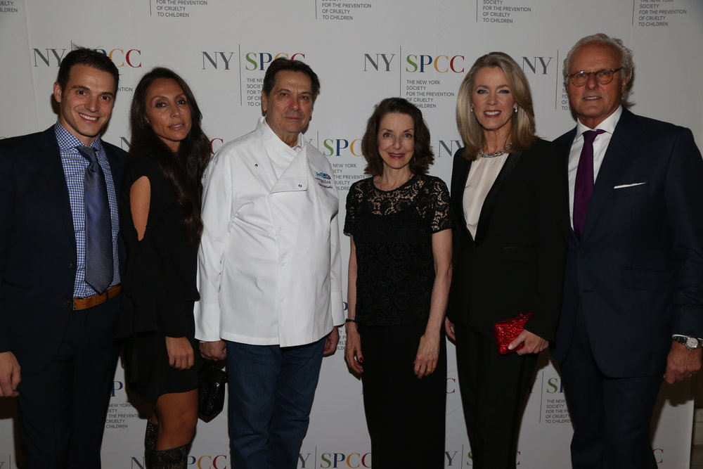George Spiliadis, NYSPCC Children's Council Member Vicky Cornell, NYSPCC Executive Director Mary Pulido, PhD, Deborah Norville, Karl Wellner.JPG