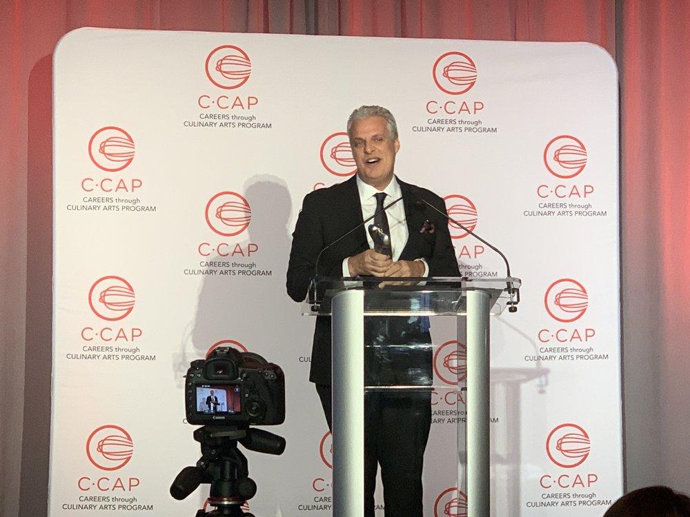 Chef Eric Ripert Giving a Speech