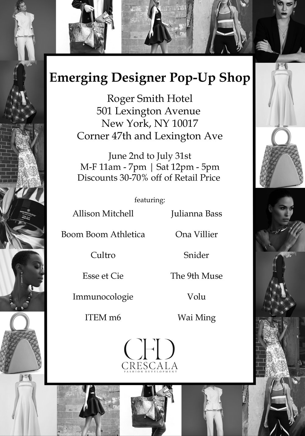 Crescala Emerging Designer Pop-Up Shop, Women's Enterprise Action Loan Fund
